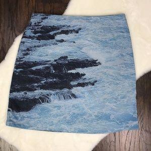 Anthropologie HD in Paris Size 12 Skirt Water Wave